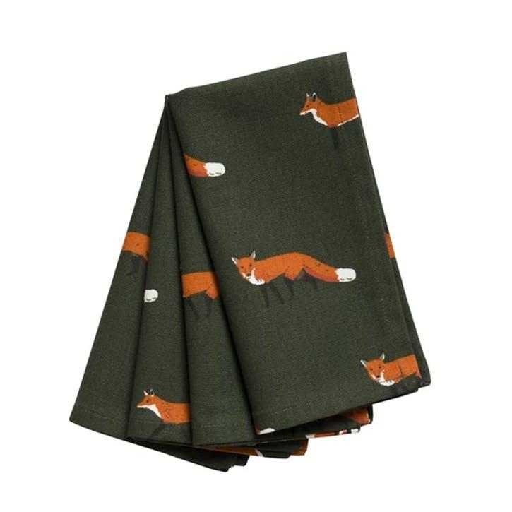 'Foxes' Napkins, Set of 4