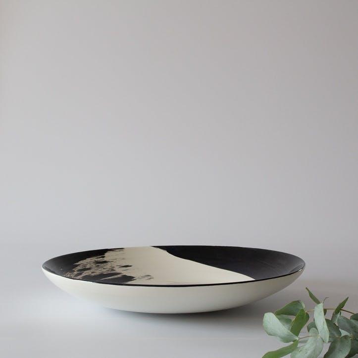 Swish Charcoal Serving Dish