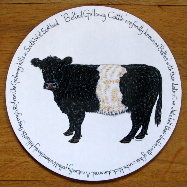 Belted Galloway Cow Tablemat - 28cm