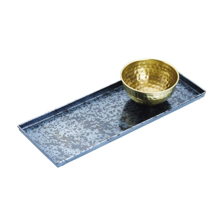 Serving Platter with Brass Bowl