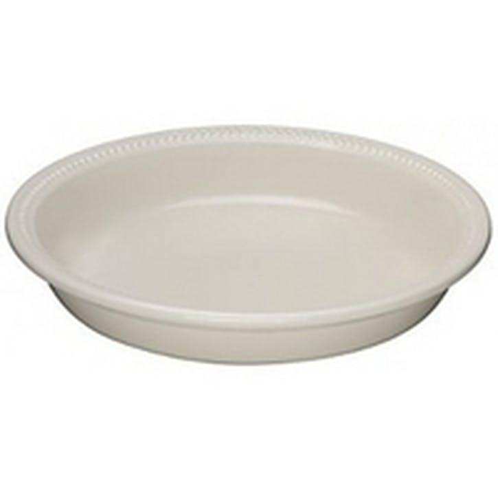 Stoneware Pie Dish - 24cm; Almond