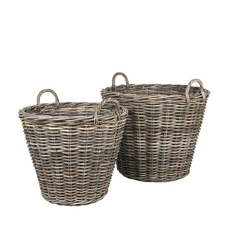 Bing Rattan Baskets, H60 x Dia75cm