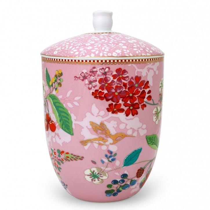 PiP Floral 2.0 Hummingbirds Storage Jar, Pink