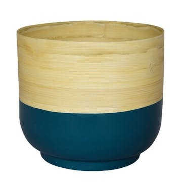 Bamboo, Planter, 28cm, Teal