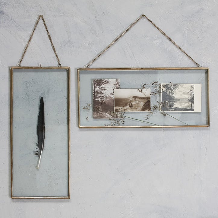 Gigantic Antique Brass Kiko Frame - Long Landscape