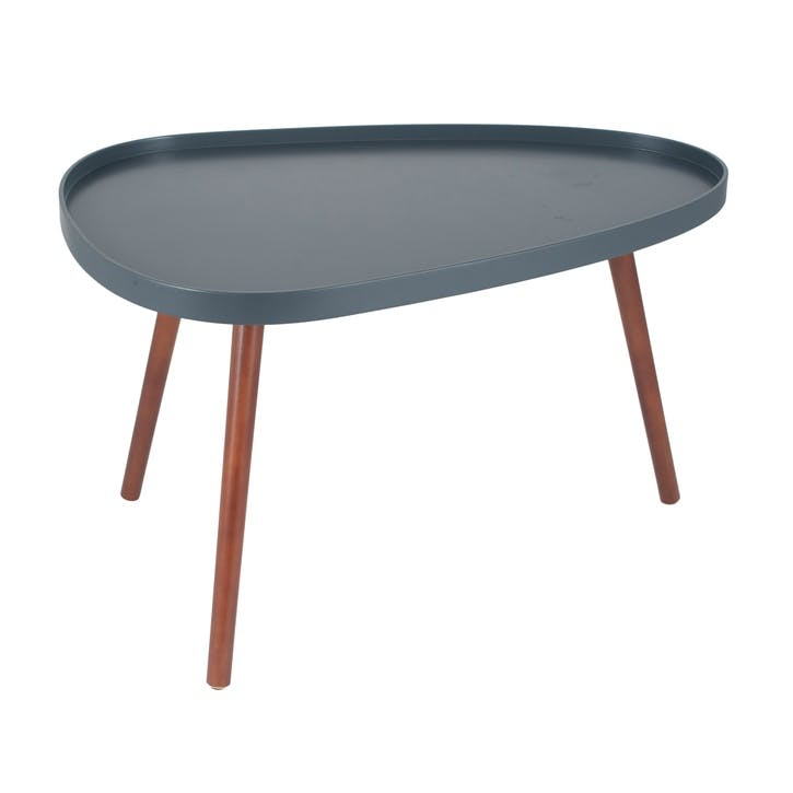 Halston Teardrop Coffee Table, Slate