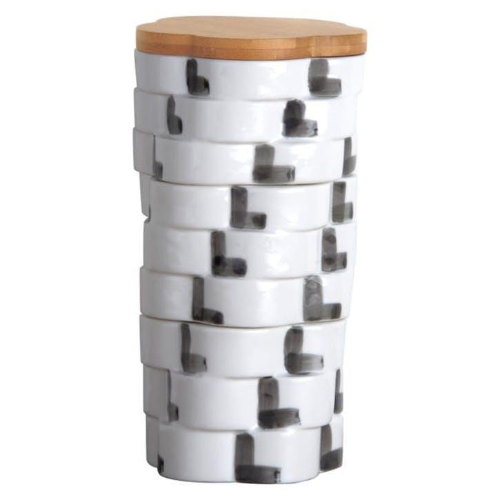 Totem Flower Stackable Storage Jar