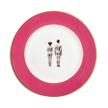 Modern Surrealist The Models Dinner Plate, Raspberry Pink