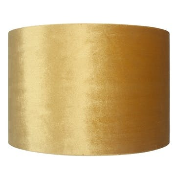 Velvet Cylinder Shade - 30cm; Mustard