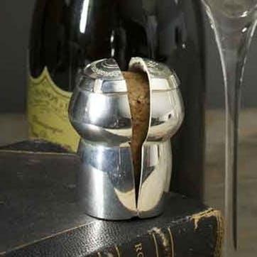 Champagne Cork Keeper; Silver