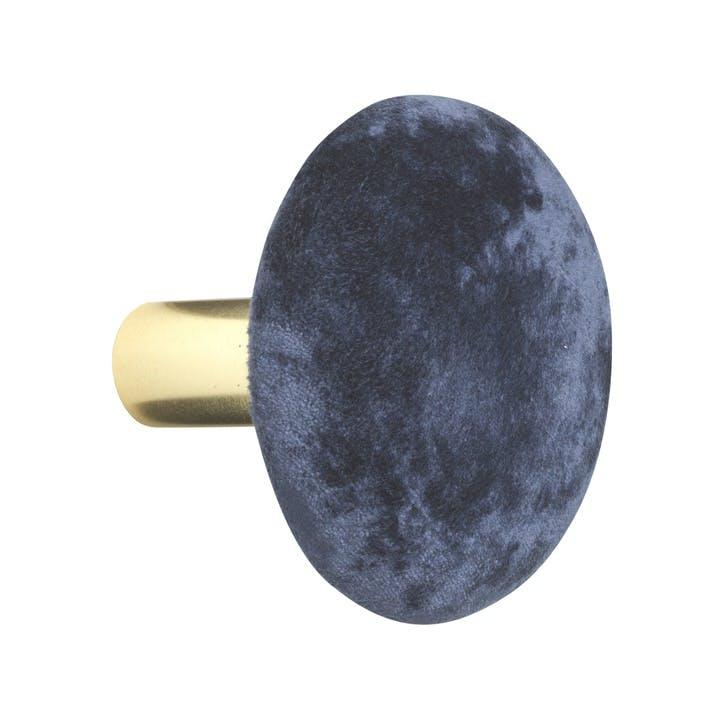 Helene Velvet Hook, Large, Royal Blue