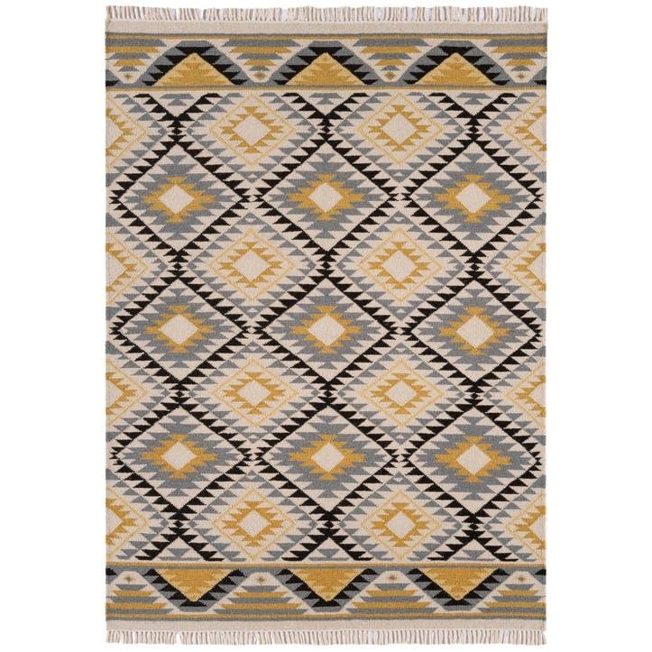 Kelim Modern Geometric Rug - 1.6 x 2.3m; Yellow