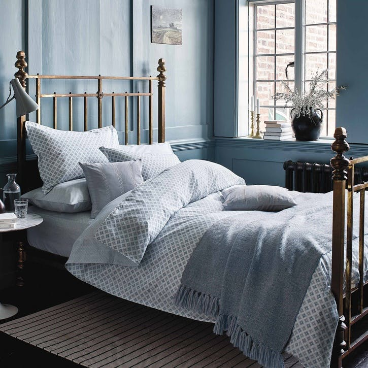 Mya Double Duvet Set, Sky Blue
