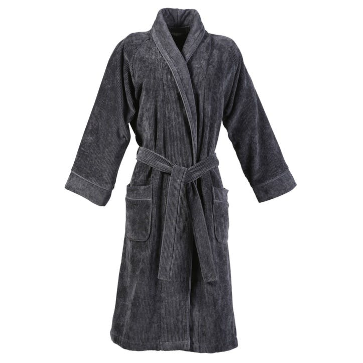 Luxury Egyptian Robe, Small/ Medium, Graphite