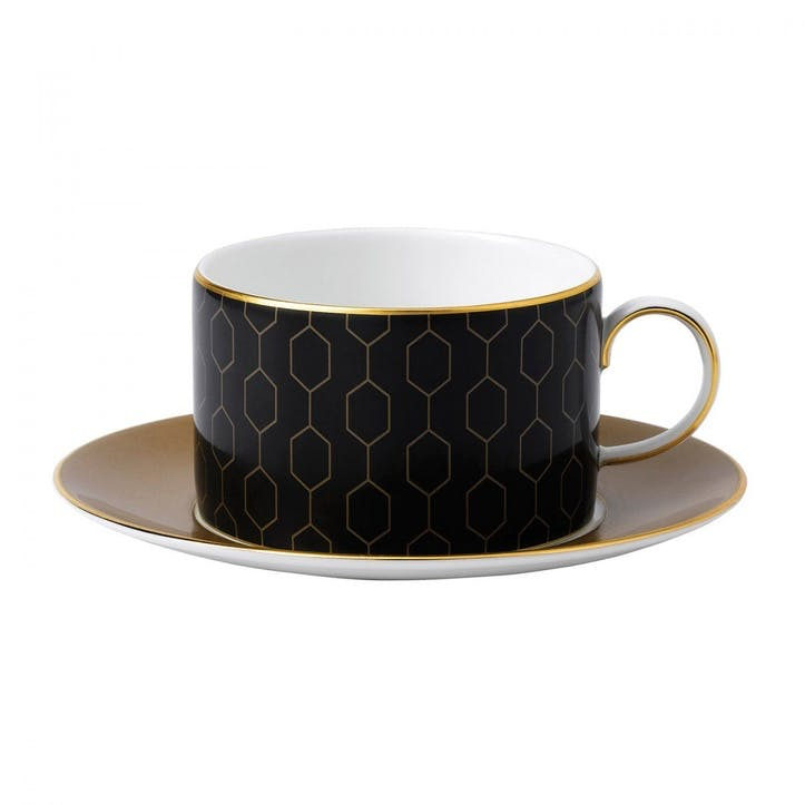 Arris Honeycomb Teacup And Saucer