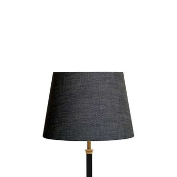 Straight Empire Shade, 30cm, Charcoal Linen