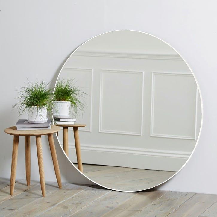 Chiltern Fine Metal Mirror, Round, White
