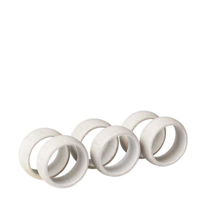 Sandstone Napkin Ring, Set of 6