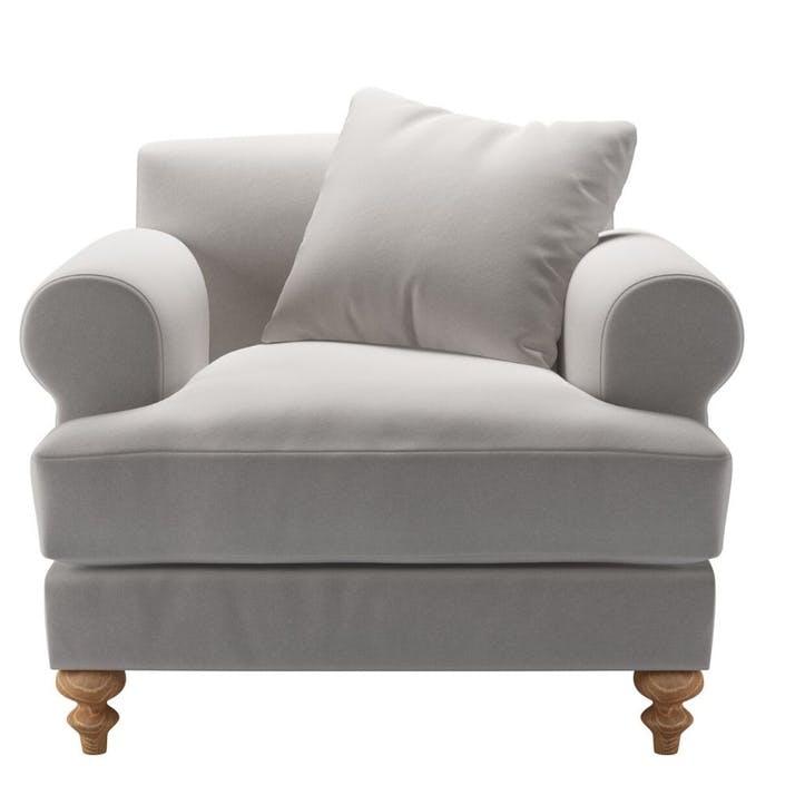Teddy, Armchair, Dove Smart Velvet