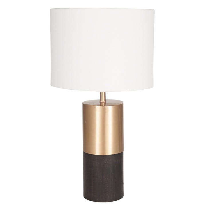 Etosha Wood & Metal Table Lamp - Tall