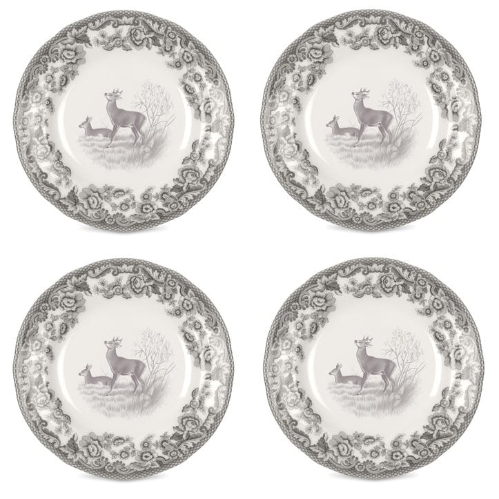 Delamere Rural Deer Tea Plates, Set of 4