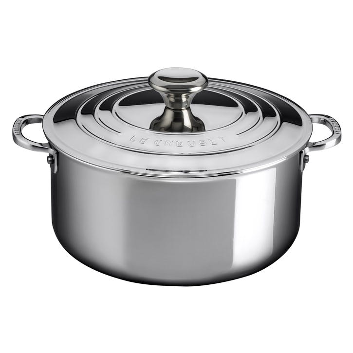 Signature Stainless Steel Casserole With Lid - 24cm