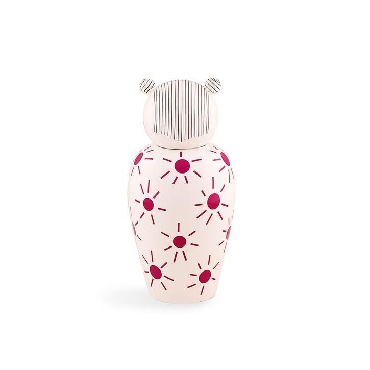 Canopie, Vase with Lid, Pink