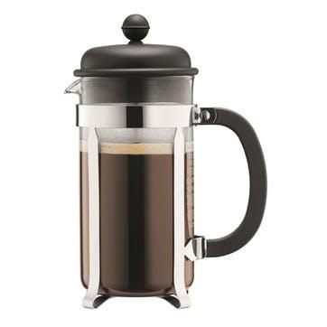 Caffettiera, 8 Cup Coffee Maker, 1 Litre, Black