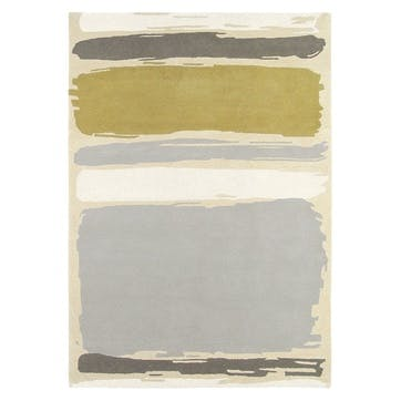 Abstract Rug 140 x 200 cm, Linden/Silver