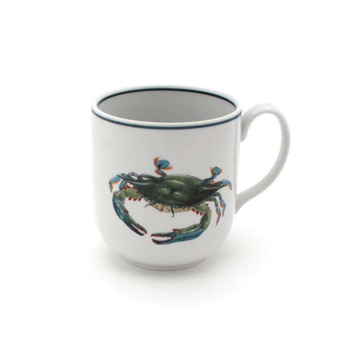 Seaflower Blue Crab Mug, 10cm, Blue