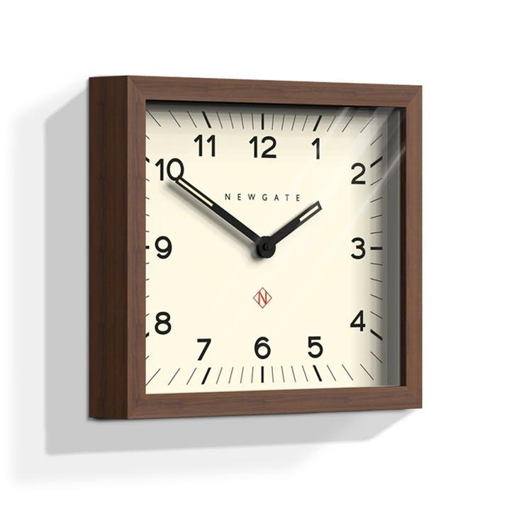Mr Davies Wall Clock, Dia. 30cm, Dark Wood