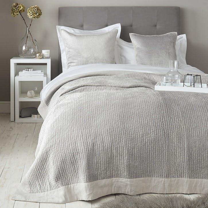 Vienne Cushion Cover, Medium Square, Silver
