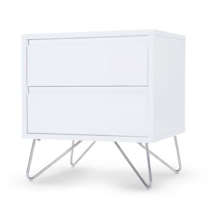 Elona Bedside Table; White