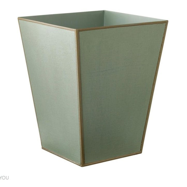 Mala Handpainted Wastepaper Bin, Pale Blue