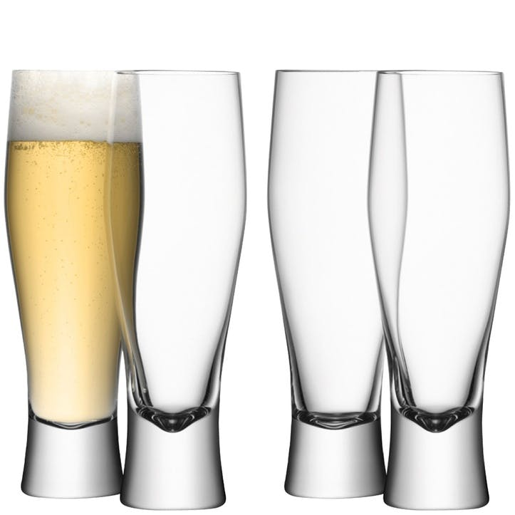 LSA Bar Lager Glass, 400ml, Set of 4