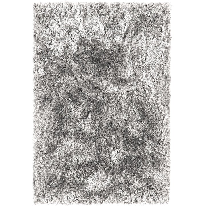 Plush Rug, 1.2 x 1.7m, Silver