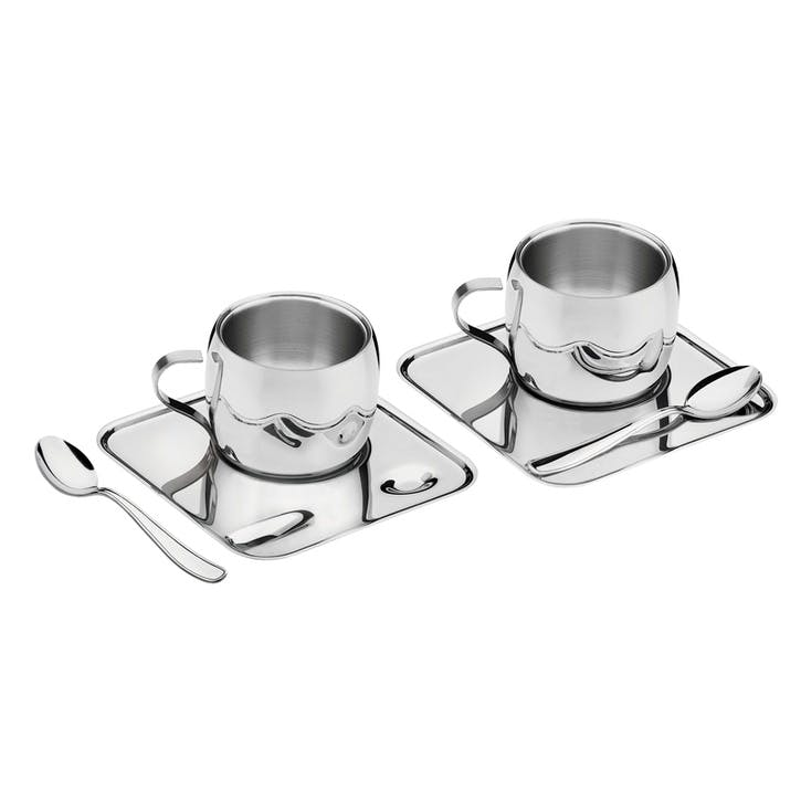 Stainless Steel Coffee Set, 6 Pieces