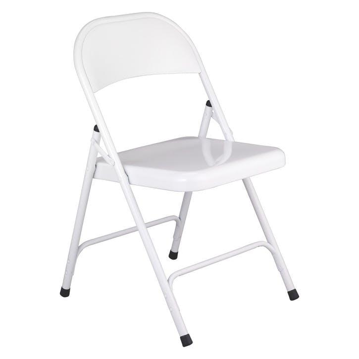 Macadam Folding Chair, White