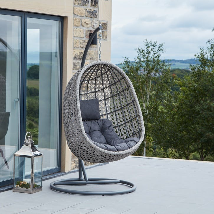 Hanging Chair, Stone Grey