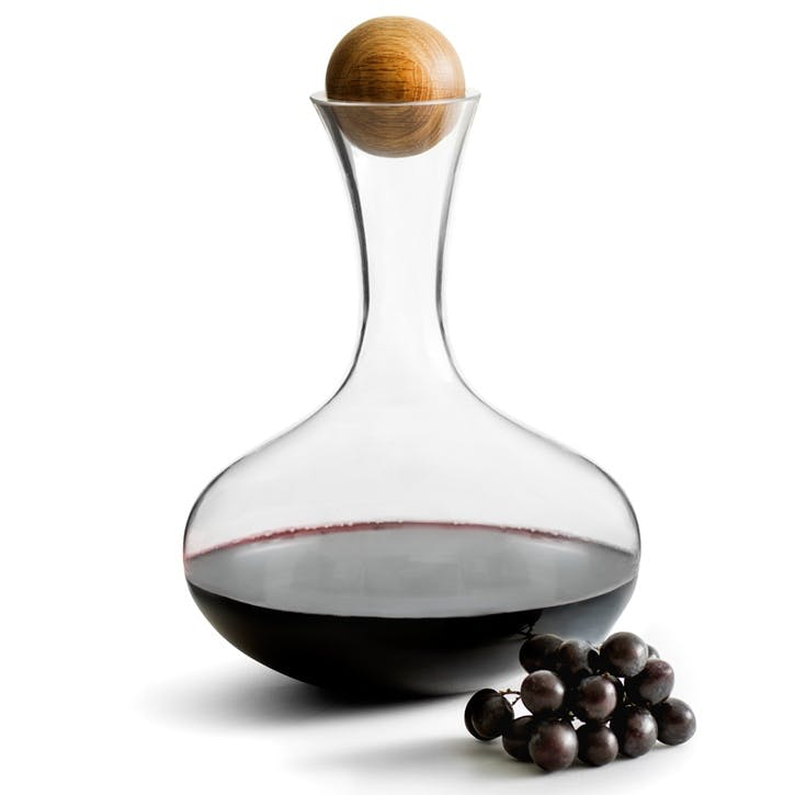 Wine Carafe With Oak Stopper - 2L