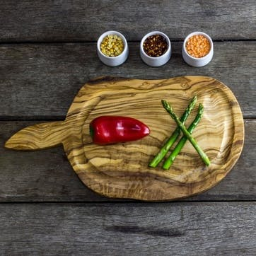Wooden Kitchen Carving Board with Jus Groove - 40cm