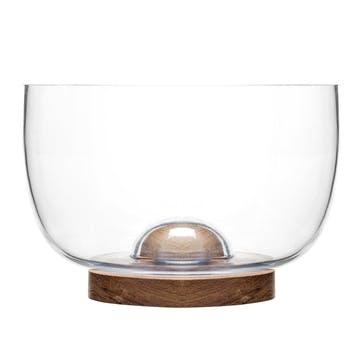 Oval Oak Bowl