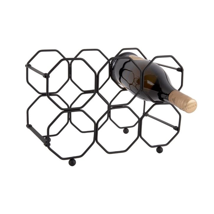 Honeycomb Wine Rack, Black