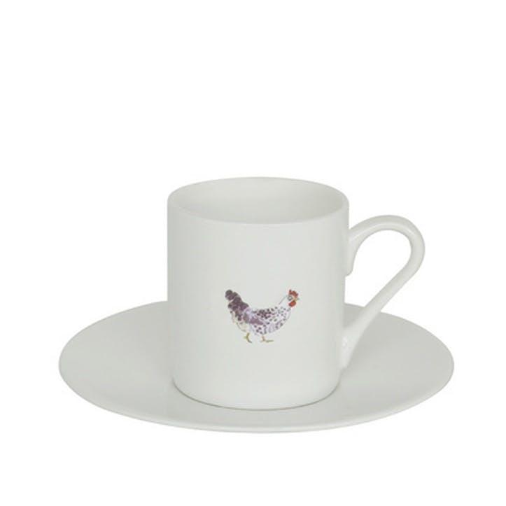 'Chicken' Espresso Cup & Saucer