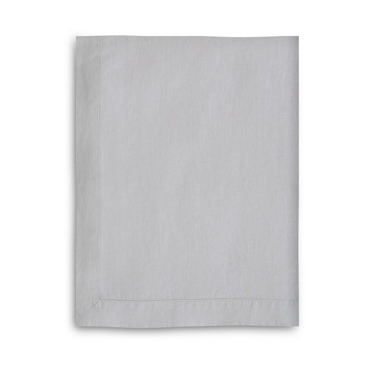 Mitered Hem Tablecloth, Dove Grey, 150 x 230cms
