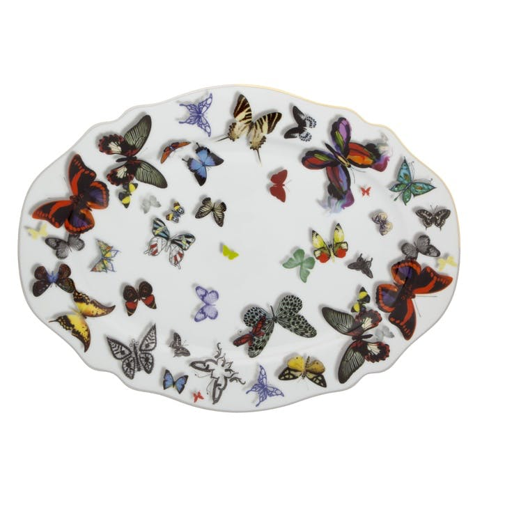 Butterfly Parade Small Oval Platter