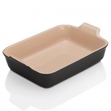 Stoneware Rectangular Dish - 19cm; Satin Black