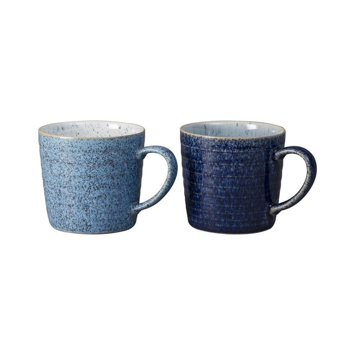 Studio Blue Set of 2 Ridged Mug Set