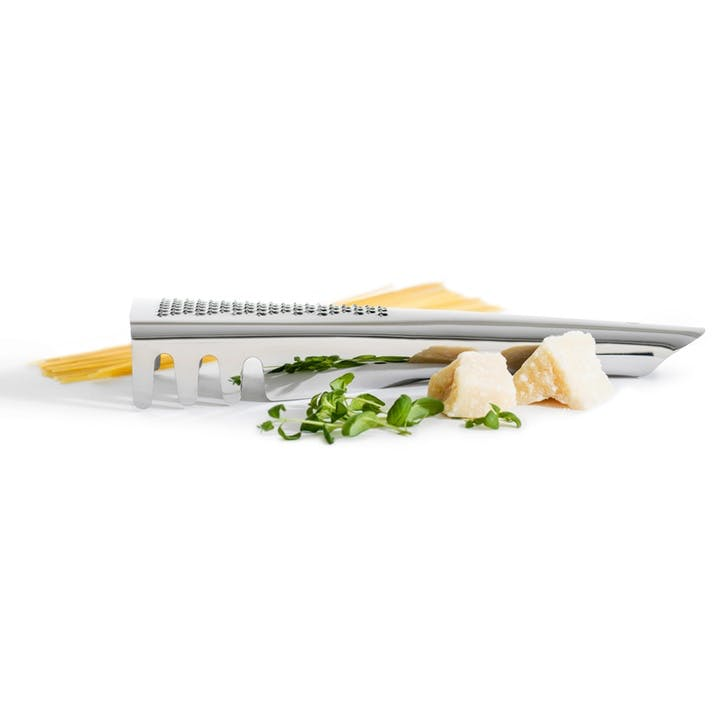 Pasta Server With Parmesan Grater, Steel
