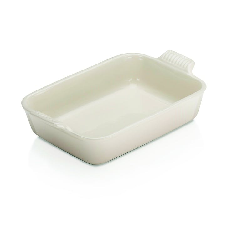 Stoneware Deep Rectangular Dish, 26cm, Meringue